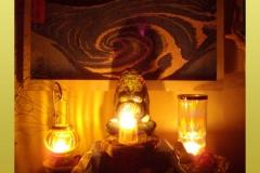 Millennial Gaia Candle Glow Altar