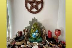 Millennial Gaia Wiccan Altar
