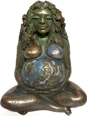 Millennial Gaia Earth Mother Statue by Oberon Zell